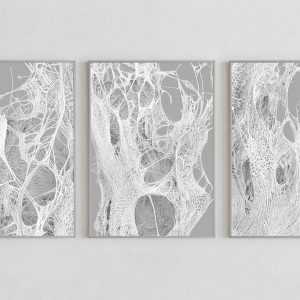 Mesh light prints by Gerard Puxhe