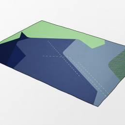 Dawn D4 rug blue