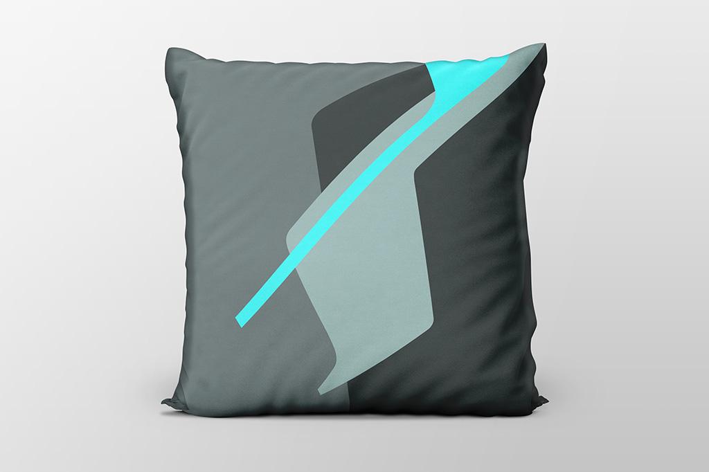 Dawn F6 blue cushion by Gerard Puxhe
