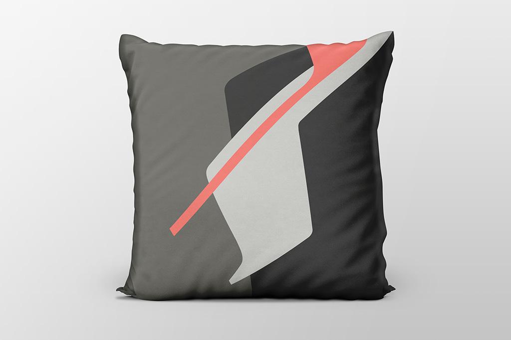 Dawn F6 coral cushion by Gerard Puxhe