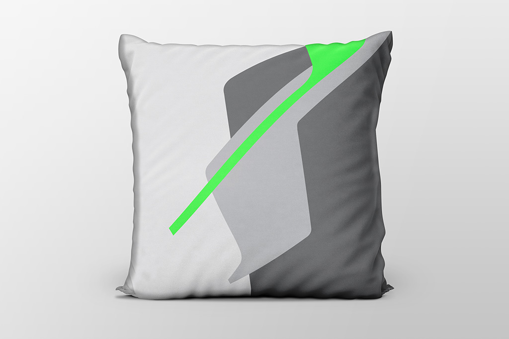 Dawn F6 green cushion by Gerard Puxhe