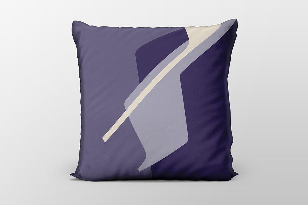 Dawn F6 purple cushion by Gerard Puxhe