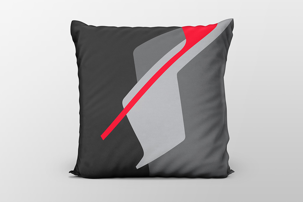 Dawn F6 red cushion by Gerard Puxhe
