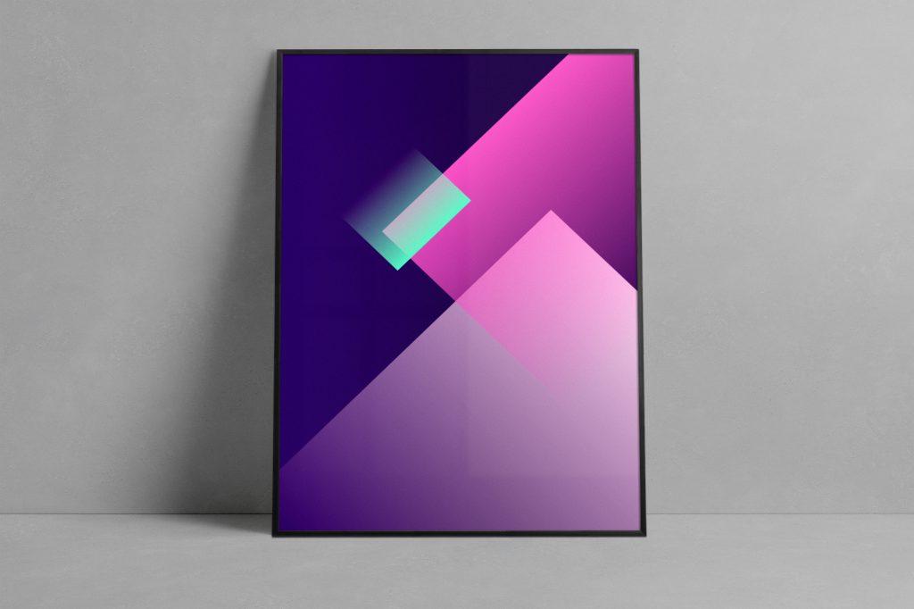Dcode 04 50×70 purple