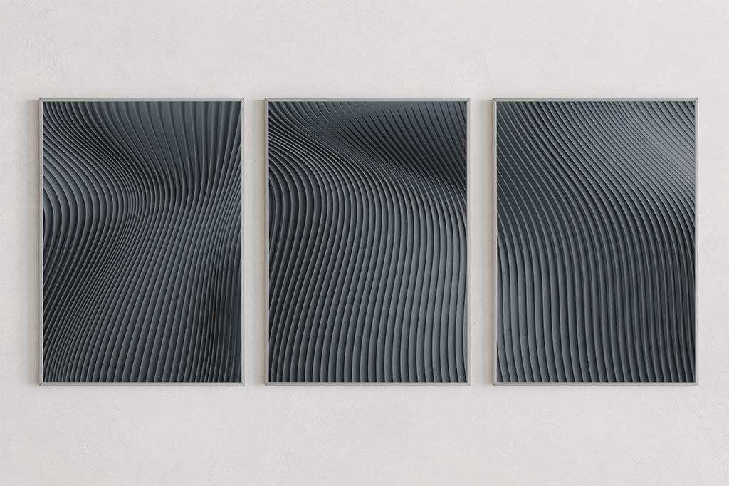 Flow prints dark by Gerard Puxhe