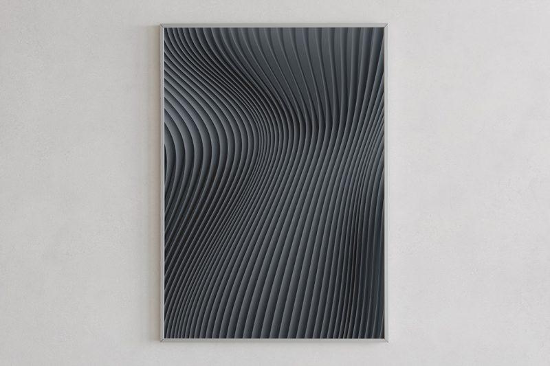 Flow print 01 dark by Gerard Puxhe