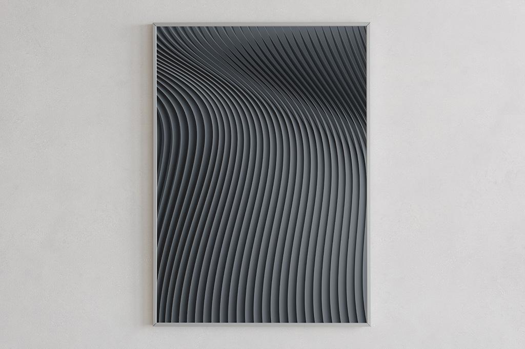 Flow print 02 dark by Gerard Puxhe
