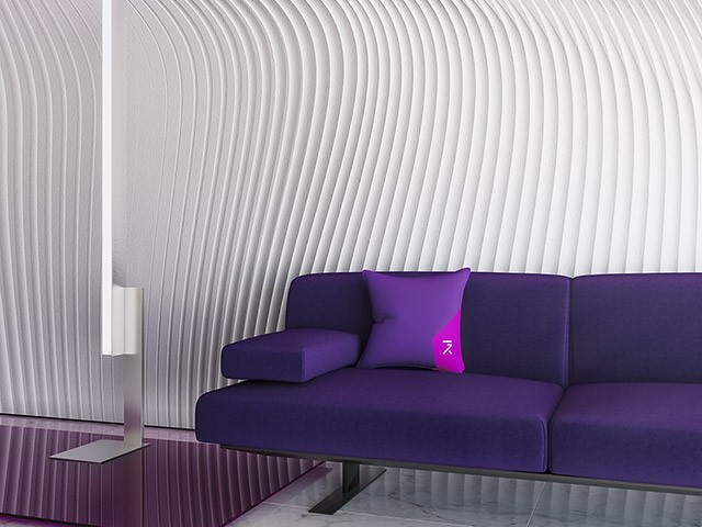 Flow light wallpaper designed by Gerard Puxhe