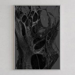 Mesh print 01 dark by Gerard Puxhe