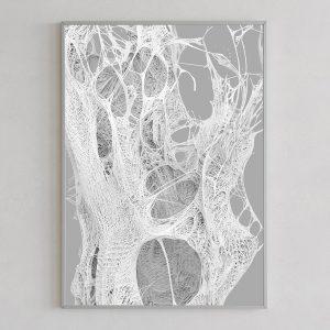 Mesh print 01 light by Gerard Puxhe