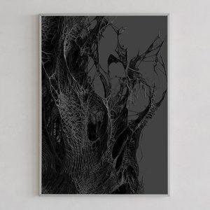 Mesh print 02 dark by Gerard Puxhe