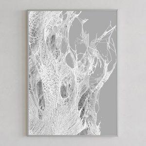 Mesh print 02 light by Gerard Puxhe