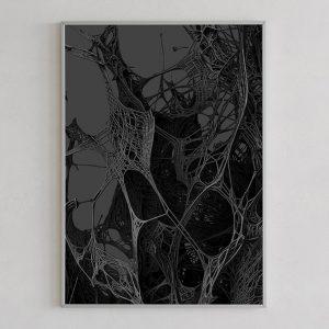 Mesh print 03 dark by Gerard Puxhe