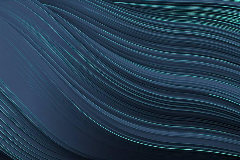Twist dark blue wallpaper by Gerard Puxhe