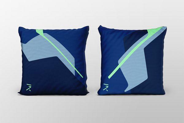 Dawn blue cushion