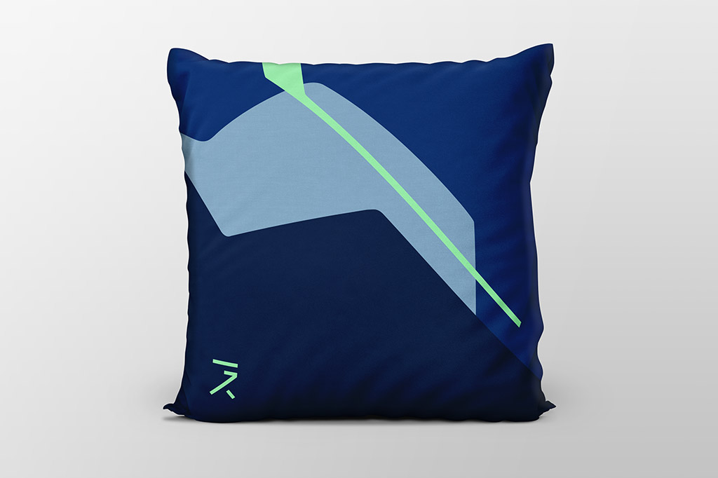 Dawn blue cushion