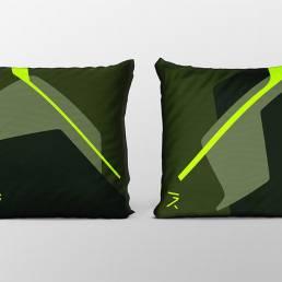 Dawn green cushion