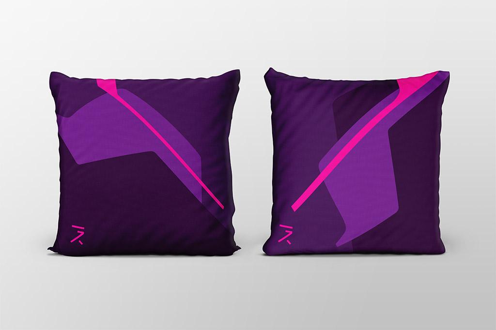 Dawn purple cushion