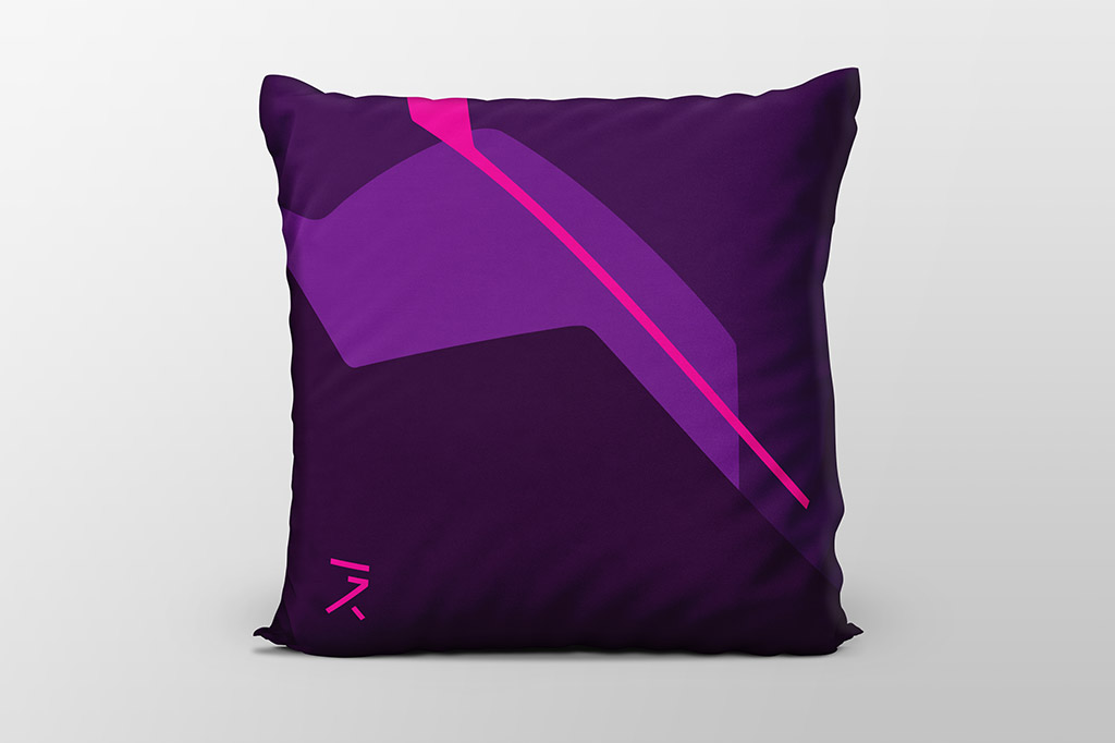 Dawn purple cushion