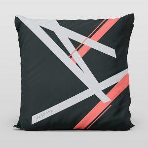 Kai coral dark cushion