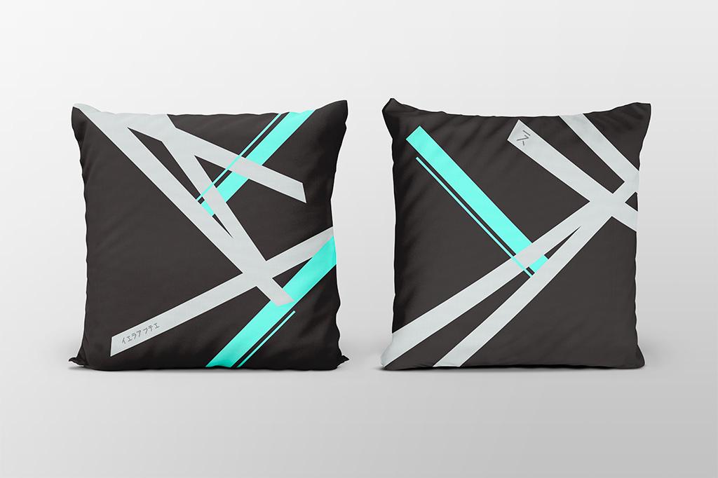 Kai cyan dark cushion