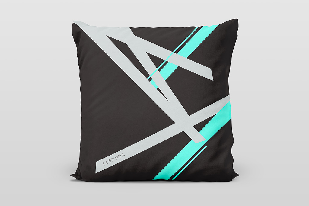 Kai cyan dark cushion