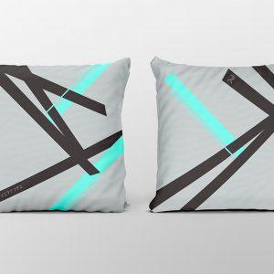 Kai cyan light cushion