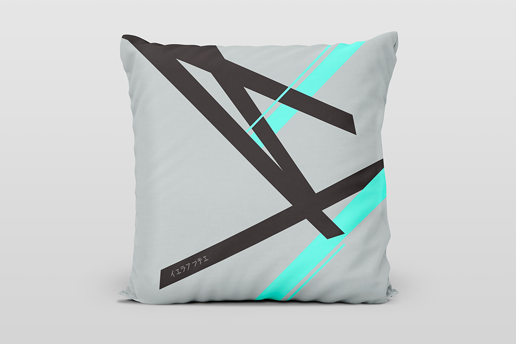Kai cyan light cushion