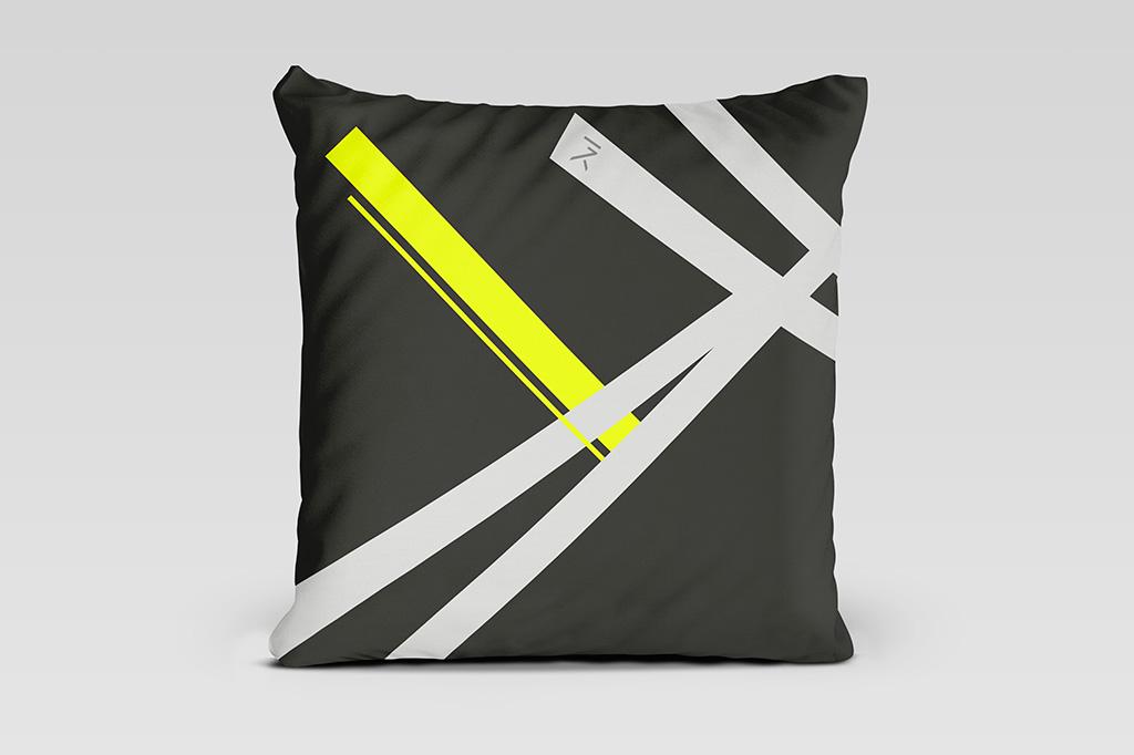 Kai yellow dark cushion