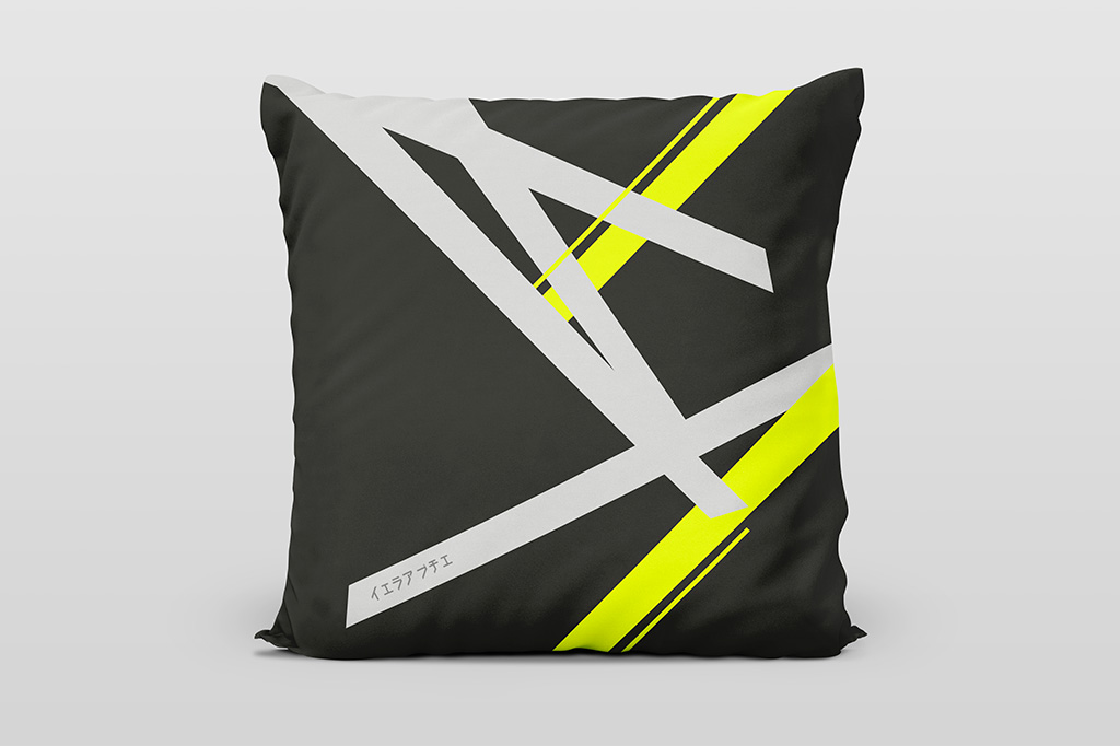 Kai yellow dark cushion