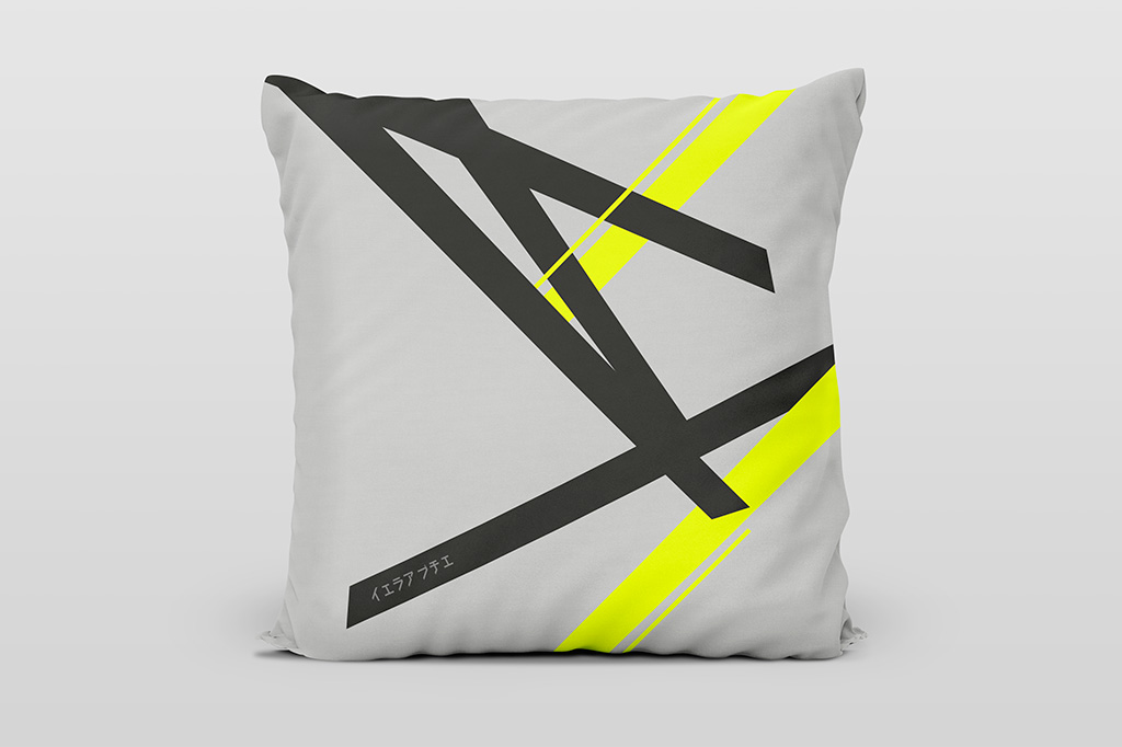 Kai yellow light cushion