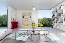 Dinning room Villa interior design Marbella
