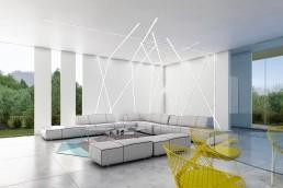 Living room Villa interior design Marbella by Gerard Puxhe