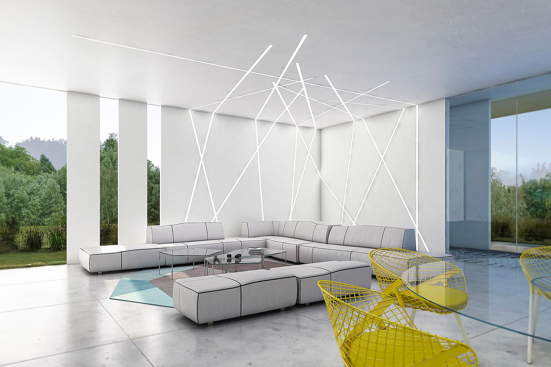 Living room Villa interior design Marbella by Gerard Puxhe